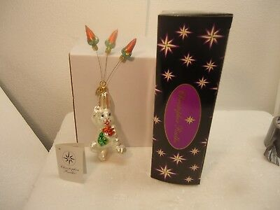 Christopher Radko ornament - Carrot Catch in original box, easter, 8""