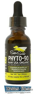 Digging Your Dog Super Snouts 90mg PHYTO-90 USA Organic Hemp OIL Dogs & Cats