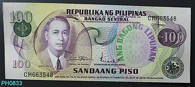 PHILIPPINES 100 Piso (1978) serial # CH663548 CRISP UNCIRCULATED Free Shipping