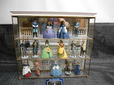 GONE WITH THE WIND Franklin Mint Sculpture Collection w/ Display 15 Figurines