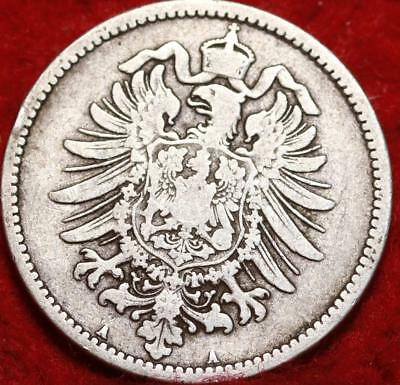 1875 Germany 1 Mark Silver Foreign Coin