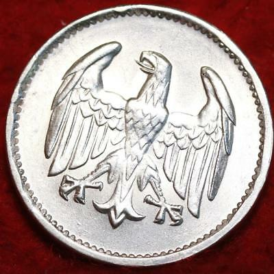 Uncirculated 1924 Germany 1 Mark Silver Coin