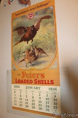 Peters Reproduction 1936 Calendar - Made In 1992