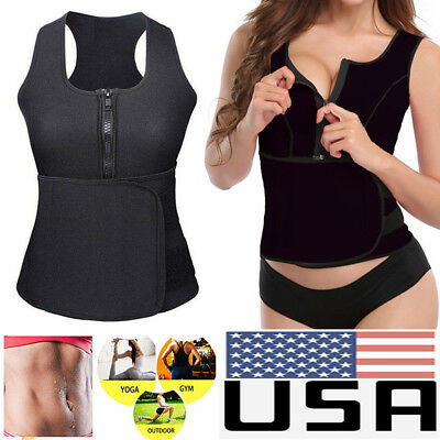 Fajas Neoprene Sweat Belt Waist Trainer Sports Vest Body Shaper Underbust Corset