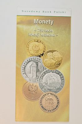 2007 Polish Silver Coin W/ National Bank of Poland Pamphlet *213