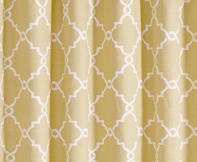 Madison Park Westmont Printed Shower Curtain Yellow 72 X