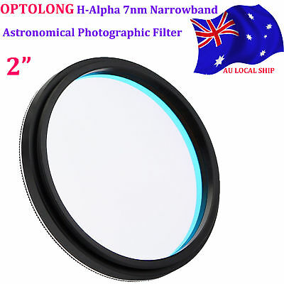 """2""""OPTOLONG H-Alpha 7nm Filter Narrowband for Astronomical Photography AU SHIP"""
