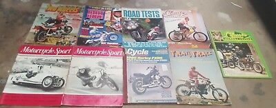 Lot of Old MOTORCYCLE  Magazines Harley Track Trail etc