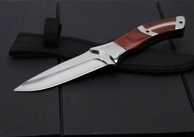 "New 10.3"" Survival Outdoor Sport Camping Collect Hunting Knife Fixed Blade 320"