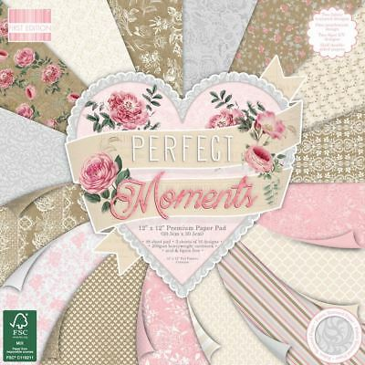Premium Craft Cardstock First Edition 12x12 Designer Paper Pad - Perfect Moments
