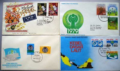 Malaysia  - Small Collection of 4 First Day Covers - (63)