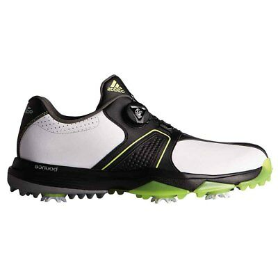 28267bd901294 NEW Adidas Mens 360 Traxion BOA Golf Shoes White   Black   Solar Yellow sz  15