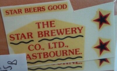 The Star Brewery Decals ( waterslide )