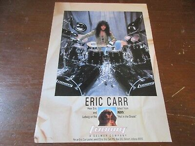 Ludwig Drums - Eric Carr - Kiss **  1993 Print Ad