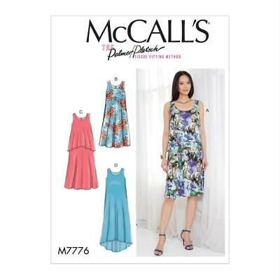 McCALL'S SEWING PATTERN MISSES DRESSES M7776 SIZES 4-26