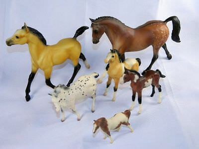 Vintage 6 Breyer Molding Horses Mixed Lot Colt Foal Appaloosa Miniatures