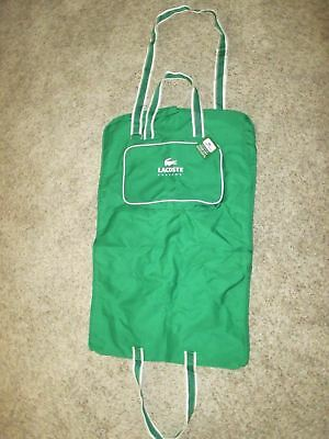 Lacoste Parfums Nwt Garment Bag Essential Luggage Suit Green White