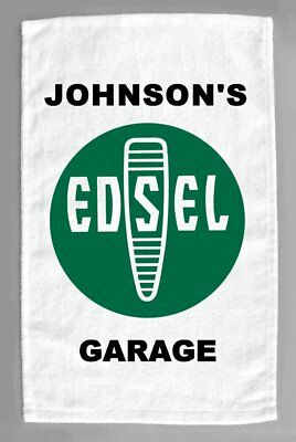 Edsel Cars Dealer Sales Service Personalized Hand Towel 11x18""