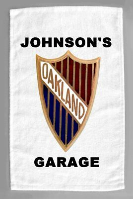 1929 Oakland Cars Dealer Sales Service Personalized Hand Towel 11x18""