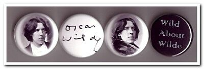 OSCAR WILDE Buttons Pins Badges 4 dorian gray poet playwright