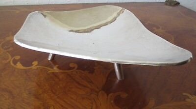 Mexican Sterling Silver Dish with 3 feet  and beautiful Shape- Marked
