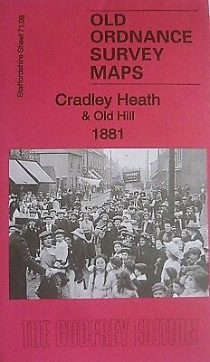 OLD ORDNANCE SURVEY DETAILED MAPS CRADLEY HILL & OLD HILL 1881 Godfrey Edition