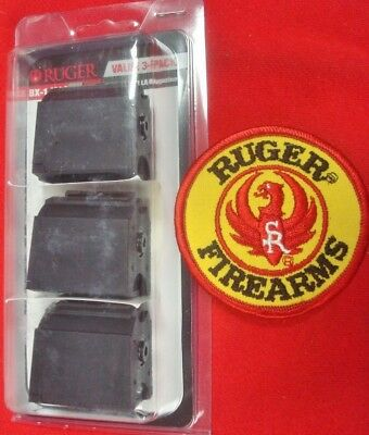 3 Ruger 10/22 BX-1 black 10 rnd magazine s # 90451 factory new 3 pack with Patch