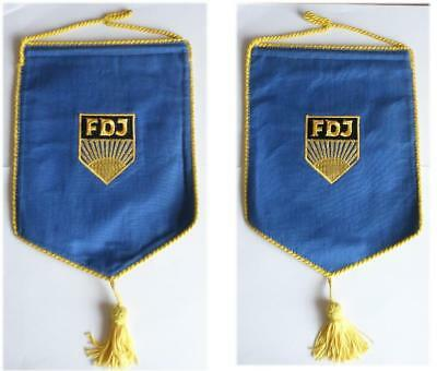 DDR Tisch - Fahne FDJ Wimpel / Free German Youth East german flag for table GDR