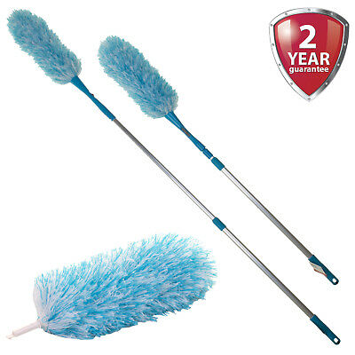 Feather Duster Long Telescopic Extendable Microfibre Cleaning Magic Static Dust