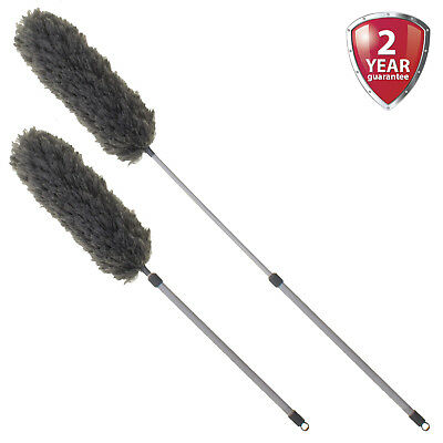 Microfibre Feather Duster Telescopic Extendable Handle Clean Magic Static Brush