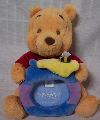 Walt Disney Baby EXTRA SOFT PLUSH WINNIE THE POOH WITH HONEY POT PICTURE FRAME