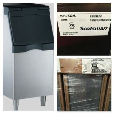 "Scotsman B322S ICE Storage BIN 370 lbs Capacity 22""Wx34""Dx50""H SS Commercial NEW"