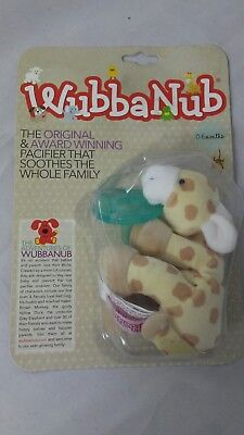 WubbaNub Philips Soothie Infant Baby Pacifier with Giraffe Holder (0-6 months)