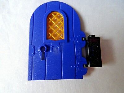 Castle Lego Large BROWN Door 1 x 4 x 6 Round Top with Arch Window and Keyhole