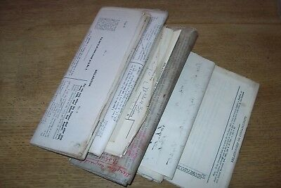 50. Paper documents mainly 1929 for the Royal Talbot Hotel Lostwithiel, Cornwall