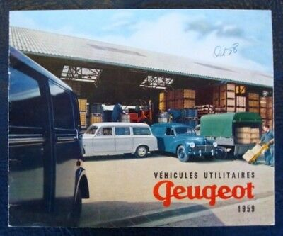 Peugeot Commercials Range Brochure 1959 (French).