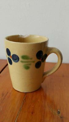 Early Antique Yellow Ware Mug
