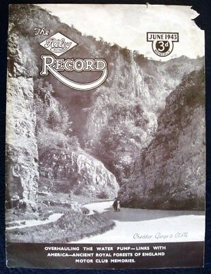 Riley Record June 1943 Water Pump Overhaul - Car Manufacturers House Magazine