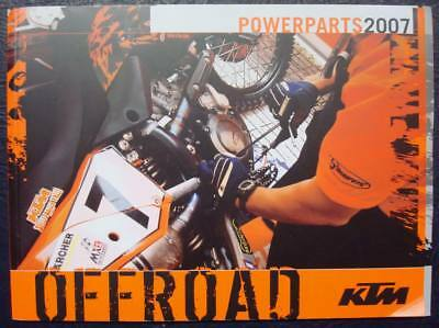 KTM OFFROAD POWERPARTS 2007 - Motorcycle Spares Parts Catalogue