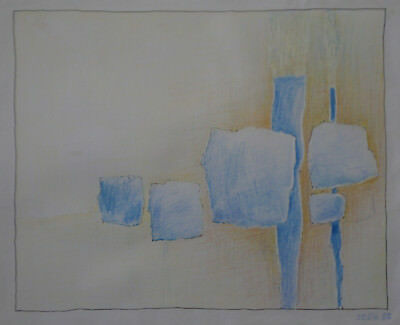 "Robert Fraulob - Pencil "" Composition Abstract "" - 1983"