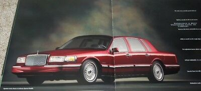1997 Lincoln Town Car 26-Page Deluxe Sales Brochure w/Paint Chips - Mint!