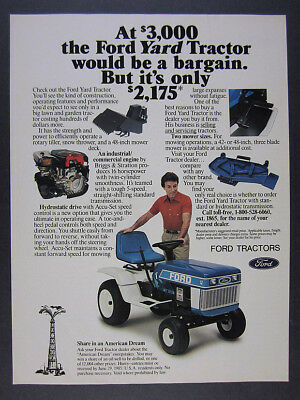 1985 Ford YT16 YT-16 Yard Tractor photo vintage print Ad