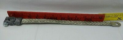 """13D Copper Ground Battery Cable Strap Braided Vintage New 2 Gauge 14"""""""