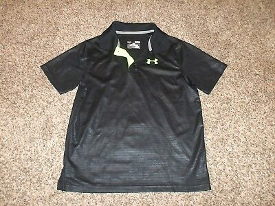 Boy's Under Armour Loose Fit Polo Style Athletic Shirt - Euc - Sz Youth Large Yl