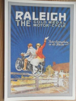 Postcard Motorcycles Series - Raleigh - From Original In Robert Opie Collection