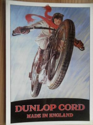 Postcard Motorcycle Dunlop Cord - From Original In Robert Opie Collection