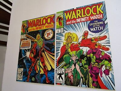 Warlock & The Infinity Watch # 1 & 2 In Vf+ To Nm-, After Infinity Gauntlet, Hot