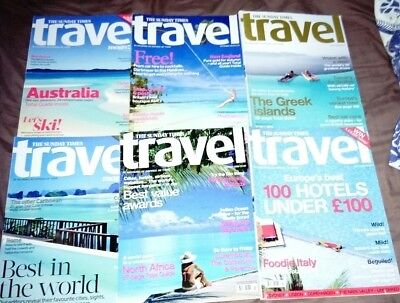 6 issues of the Sunday Times Travel Magazine