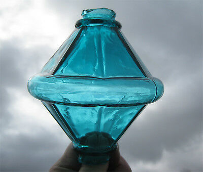 Attractive Teal Colored Electra Style Cone Lightning Rod Ball