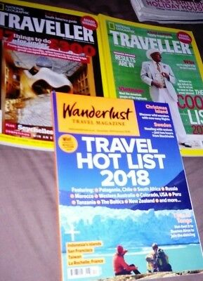 3 Travel Magazines national geographic October 2015 jan/feb 2016 wanderlust